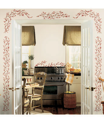 Berry Vine Peel & Stick Wall Decals