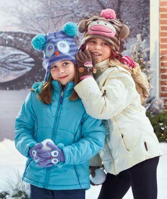 Girls' Critter Hat and Glove Sets