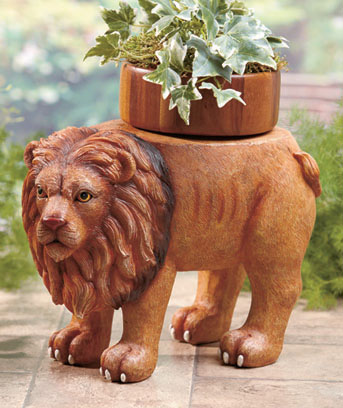 Lion Animal Plant Stand