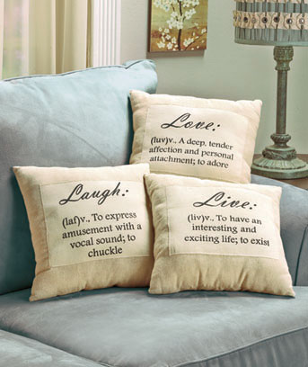 Live, Love, Laugh Pillow Set