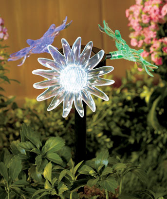 Flower 3-Sided Solar Stakes