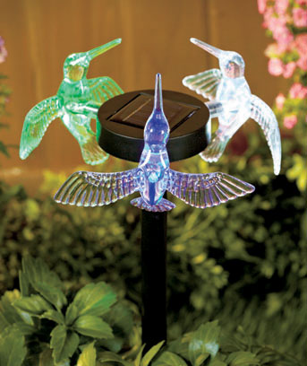 Hummingbirds 3-Sided Solar Stakes