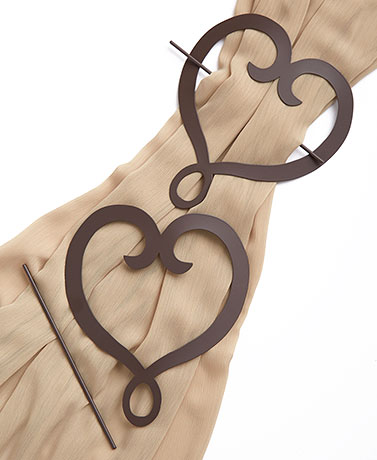 Heart Set of 2 Curtain Tie-Backs