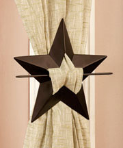 Sets of 2 Curtain Tie-Backs - Star
