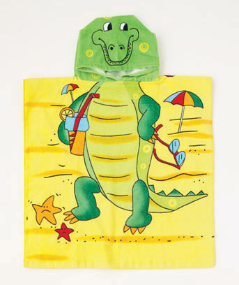 Alligator Kids' Hooded Beach Towel