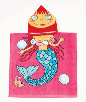 Mermaid Kids' Hooded Beach Towel