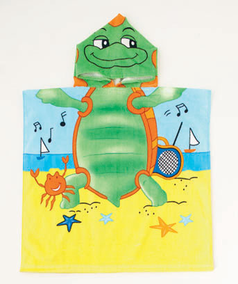 Turtle Kids' Hooded Beach Towel