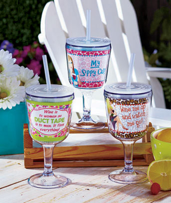 Sassy Quote Insulated Goblet Tumblers
