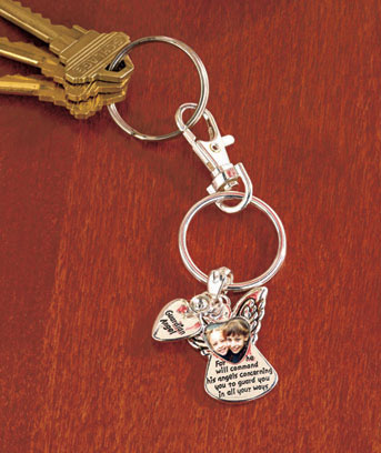 Sentiment Picture Frame Key Chains