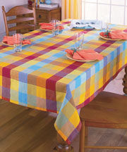 100% Cotton Woven Plaid Tablecloths