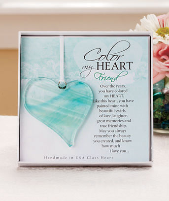 Color My Heart Glass Sentiments