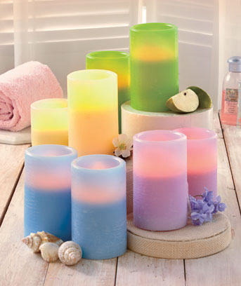Sets of 2 Scented Flameless Candles