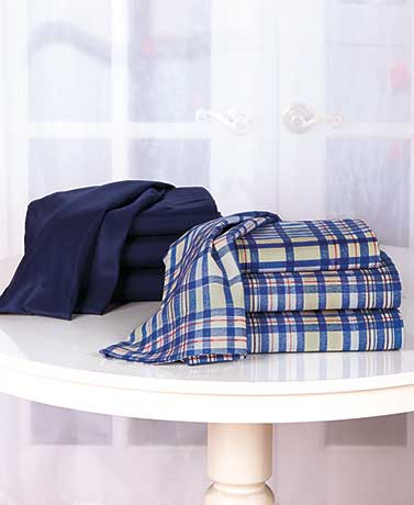 Matthew PlaidNavy 2-Pk. Complete Sheet Sets