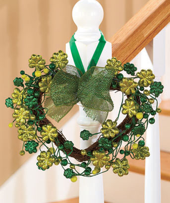 St. Patrick's Day Holiday Heart Wreath