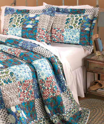 Blue 3-Pc. Quilt and Sham Sets