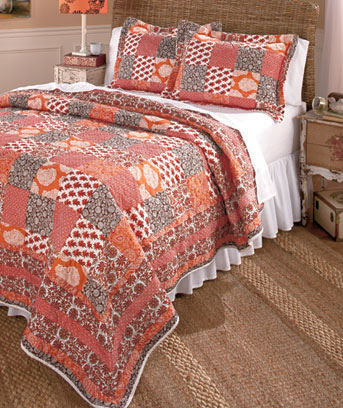 Coral 3-Pc. Quilt and Sham Sets