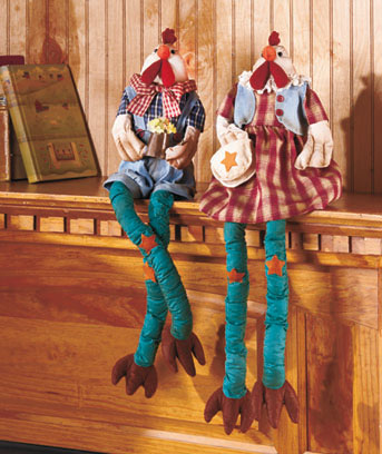 Country Plush Shelf Sitters