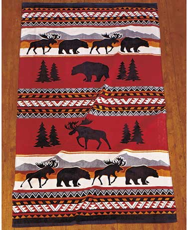 Cedar Run Oversized Lodge-Look Towel