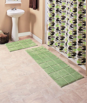 Nonskid Microfiber Plush Bath Rugs
