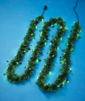 St. Patrick's Day 9-Ft. Lighted Holiday Garland
