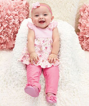 Pretty in Pink Baby Ruffle Sets