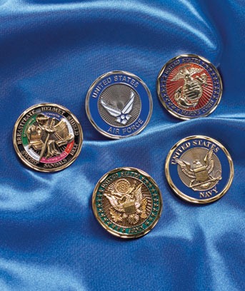 Armor of God Military Challenge Coins
