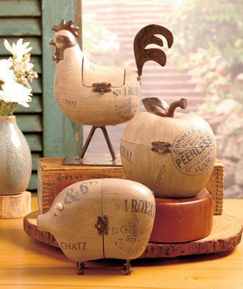 Rustic Country Decorative Boxes