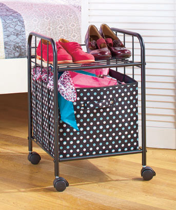 Rolling Cart with Storage Bin