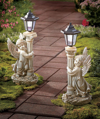 "18"" Solar Angel Garden Lanterns"