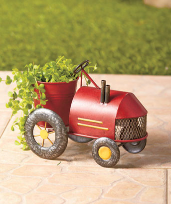 Old-Fashioned Tractor Planters