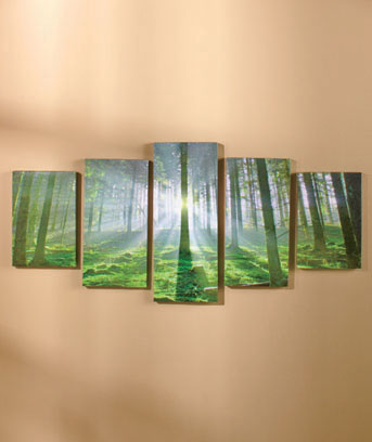 Tranquil Forest 5-Pc. Canvas Wall Art Set