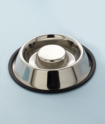 Stainless Slow-Feeder Pet Bowls