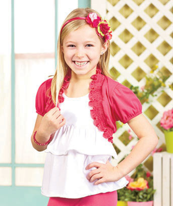 Girls' Smocked Trim Shrugs