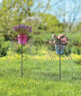 Butterfly Stake with Planter