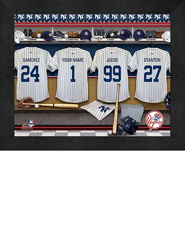 Personalized MLB Locker Room Prints