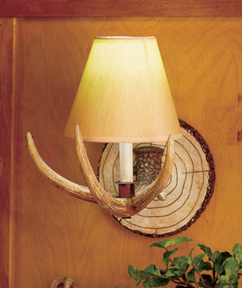 Antler Sconce with Remote