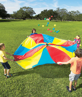 Rainbow Parachute with 24 Balls