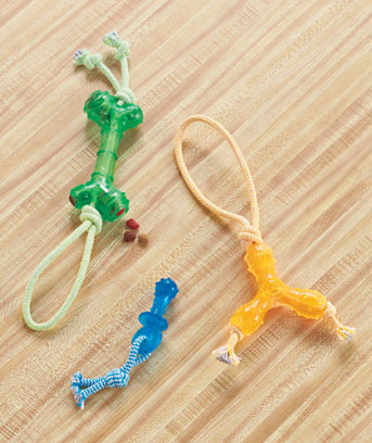 Set of 3 Chew and Rope Dog Toys