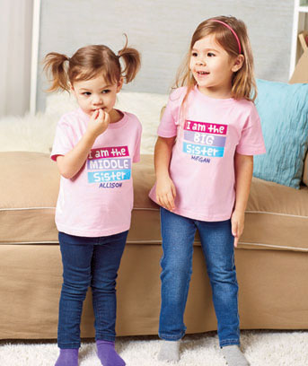 Personalized Sibling T-Shirts