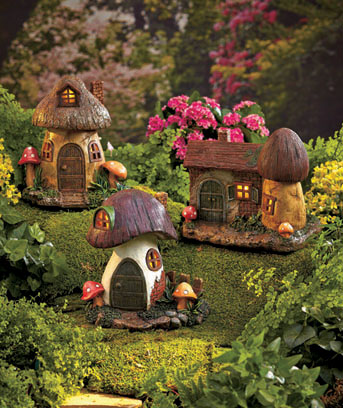 Solar Fairy or Gnome Homes