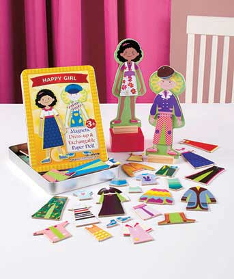 60-Pc. Wooden Magnetic Dress-Up Set