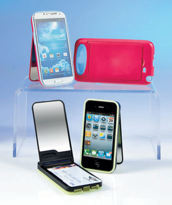 Cell Phone Case with Flip-Up Mirror