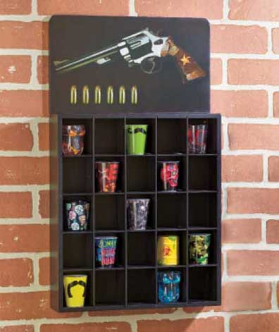 Shot Glass or Double Shooter Shelves