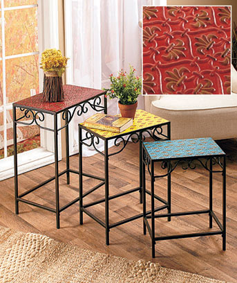 Metal Tile Scroll Tables