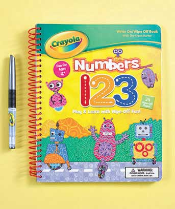 Numbers Crayola(TM) Write & Wipe Book with Marker