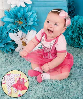 3-Pc. Baby Dress Me Up Outfits
