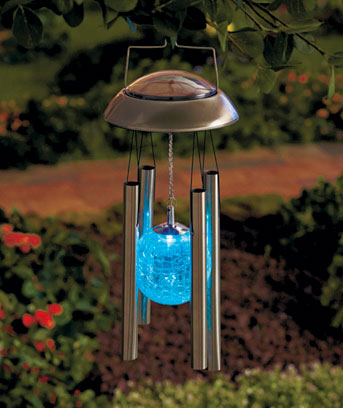 Solar Color Changing Wind Chime