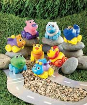 Set of 8 Animal Squeeze Cars