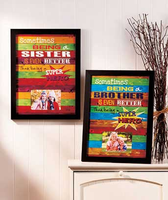 Superhero Brother or Sister Frames