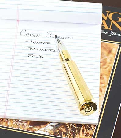.50 Caliber Bullet Refillable Pen
